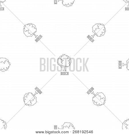 Beech Pattern Seamless Vector Repeat Geometric For Any Web Design