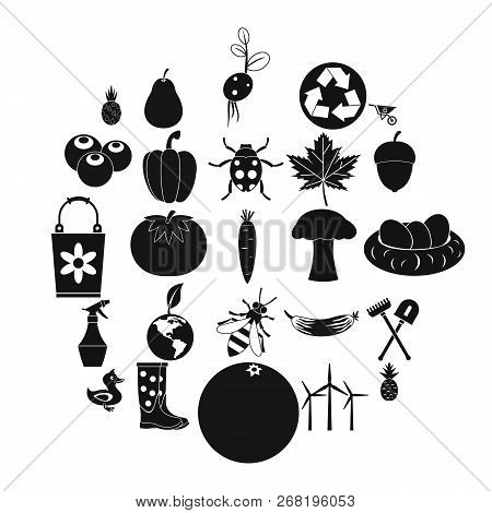 Pleasure Ground Icons Set. Simple Set Of 25 Pleasure Ground Vector Icons For Web Isolated On White B