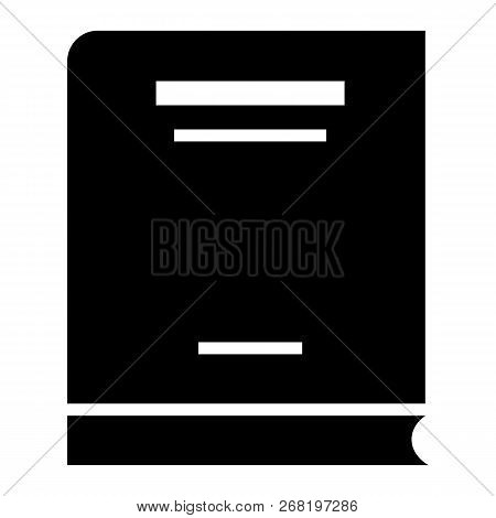 Economy Book Icon. Simple Illustration Of Economy Book Vector Icon For Web Design Isolated On White