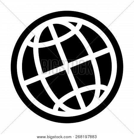 Globe Icon. Simple Illustration Of Globe Vector Icon For Web Design Isolated On White Background