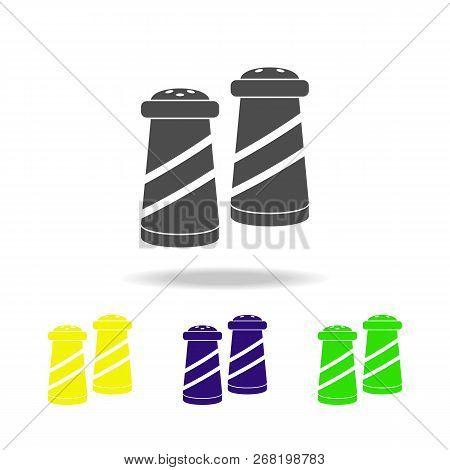 Saltcellars Multicolored Icon. Element Of Kitchenware Multicolored Icon. Signs, Outline Symbols Coll