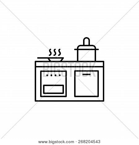 Kitchen, Cooker, Pan, Stewpot Outline Icon. Signs And Symbols Outline Icon Can Be Used For Web, Logo