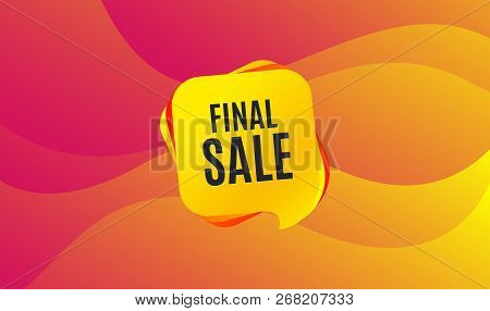 Final Sale. Special Offer Price Sign. Advertising Discounts Symbol. Wave Background. Abstract Shoppi