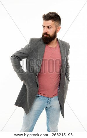 Perfect Beard. Mature Hipster With Beard. Bearded Man. Confident And Handsome Brutal Man. Hair And B