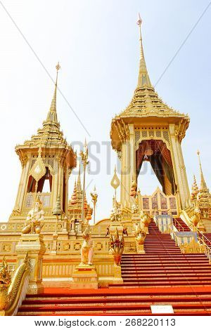 Bangkok, Thailand - November 04, 2017; The Architecture Around The Royal Crematorium In Thailand At