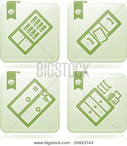 Office Supply Icons Set (part of the Olivine Squared 2D Icons Set) poster
