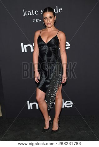 LOS ANGELES - OCT 22:  Lea Michele arrives to the 'InStyle Awards' 2018  on October 22, 2018 in Hollywood, CA