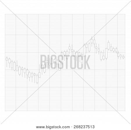 Candle Stick Graph On Transparent Background. Trend Of Graph Sign. Flat Style. Business Candle Stick