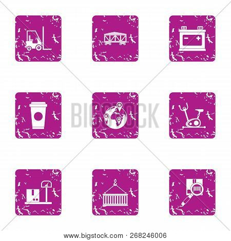 Severity Icons Set. Grunge Set Of 9 Severity Vector Icons For Web Isolated On White Background