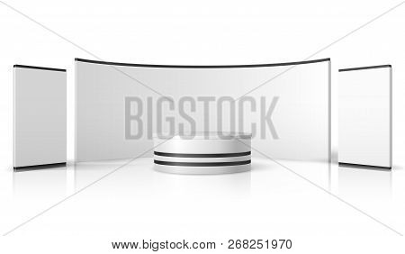 Exhibition Stand Mockup : Vector exhibition stand booth mockup stock vector illustration