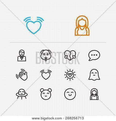 Emoji Icons  Set Dog Vector & Photo (Free Trial) | Bigstock
