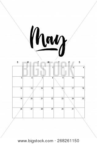 May Calendar Planner Vector Photo Free Trial Bigstock