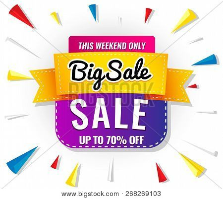 Sale Banner Template Purple. Vector  Illustration Store,  Web,  Gift,  Market,  Violet,  Wholesale,