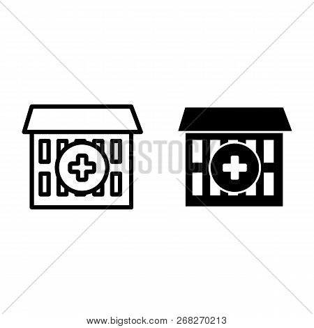 Hospital Line Glyph Vector & Photo (Free Trial) | Bigstock
