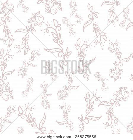 Vector Floral Background. Ornamental Frosty Or Floral Background. Seamless Pattern For Design Wallpa