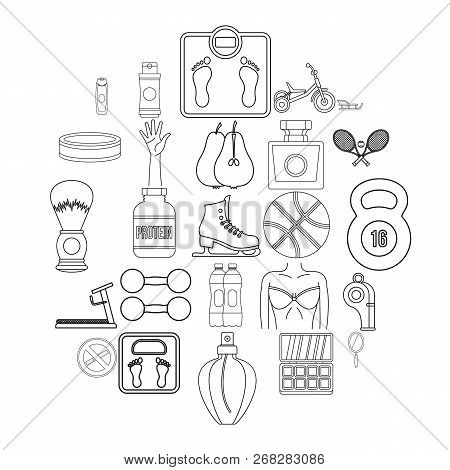 Lustiness Icons Set. Outline Set Of 25 Lustiness Vector Icons For Web Isolated On White Background