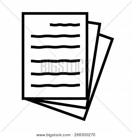 Document Icon On White Background. Document Sign. Flat Style. Paper Icon For Your Web Site Design, L