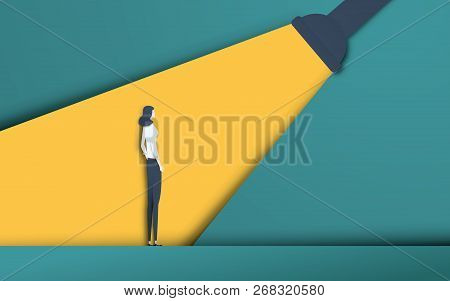 Business Recruitment And Talent Headhunting Vector Concept In Modern 3d Paper Cutout Style. Business