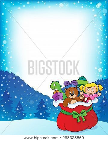 Christmas Bag Topic Frame 1 - Eps10 Vector Picture Illustration.