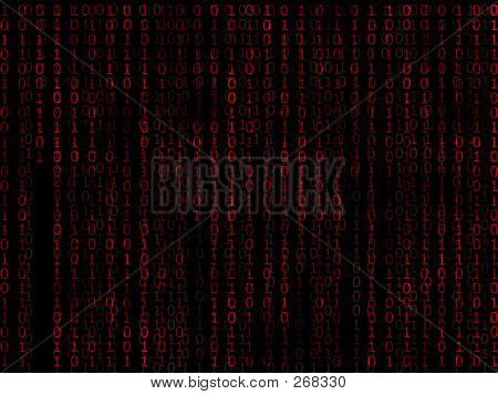 Binary Matrix Red Background2