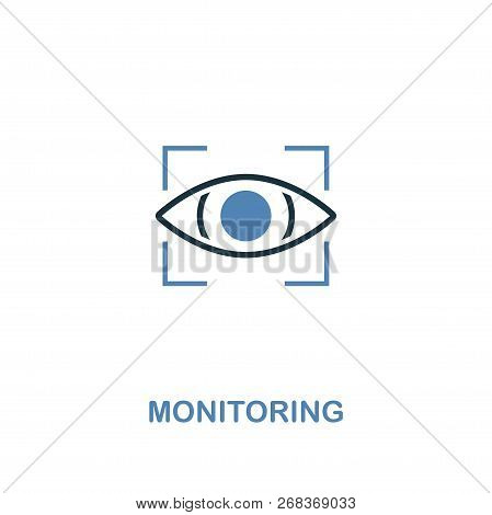 Monitoring Icon In Two Colors. Premium Design From Internet Security Icons Collection. Pixel Perfect