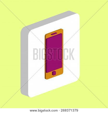 Mobile Gadget Simple Vector Icon. Illustration Symbol Design Template For Web Mobile Ui Element. Per
