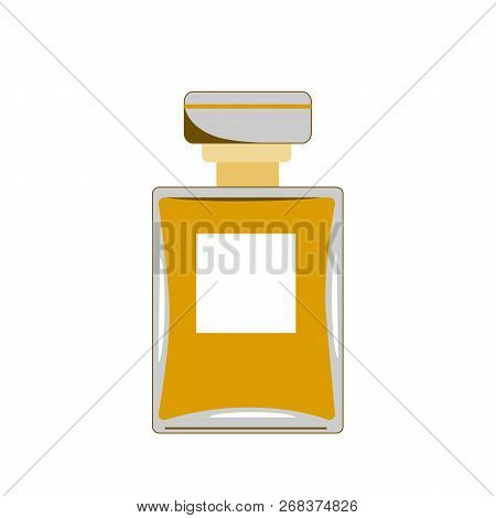 Vector Perfume Icon. Retro Perfume Illustration For Print, Web, Mobile And Infographics Isolated On