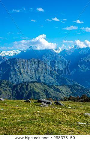 Trek In Himalayas - Landscape Of Himalayas, Khaliya Top, Munsiyari, Uttarakhand, India