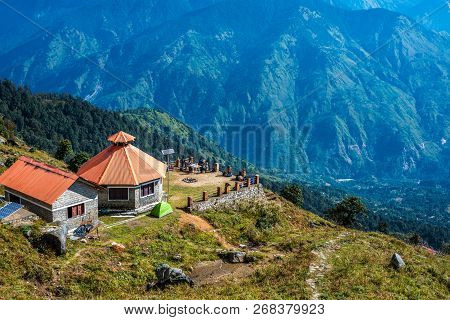 A House In Himalayas - View From Khaliya Top - Landscape Of Himalayas, Khaliya Top, Munsiyari, Uttar