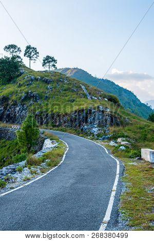 Empty Road In Himalayas - Munsiyari, Uttarakhand, India