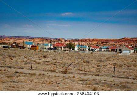 Tuba City, United States. In This Area There Are Layers Of Rock; The Younger Rocks At The Top And Ol