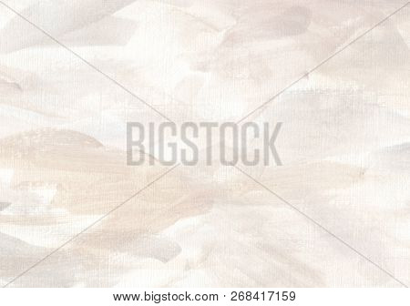 Elegant And Soft Abstract Artistic Background. Expressive Hand Painted Backdrop With Delicate Pastel
