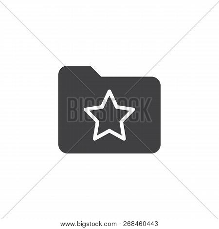 Bookmark Folder With Star Vector Icon. Filled Flat Sign For Mobile Concept And Web Design. Favorite