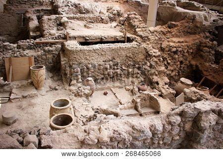 Ancient Greece Archeology Dig Akrotiri History Old Archaic City Ancient Civilization