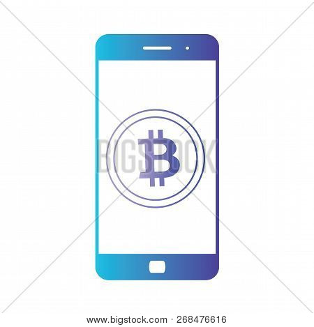 Smartphone Banking Dollar Icon. Mobile Payment With Smartphone. Crypto-currency Market. Isolated Gra