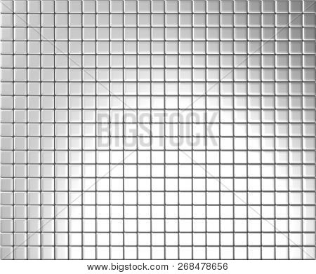Silver tile background