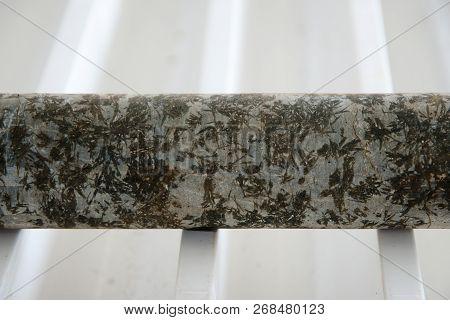 Ultramafic Komatiite Rock Core from Exploration Drilling poster