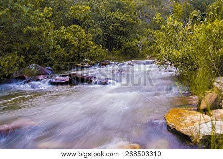 The Moviment Of The Water Of A Brook Was Registered