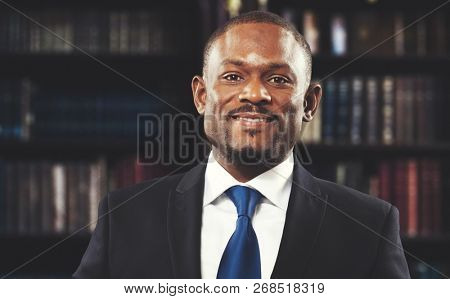 Black lawyer in his studio