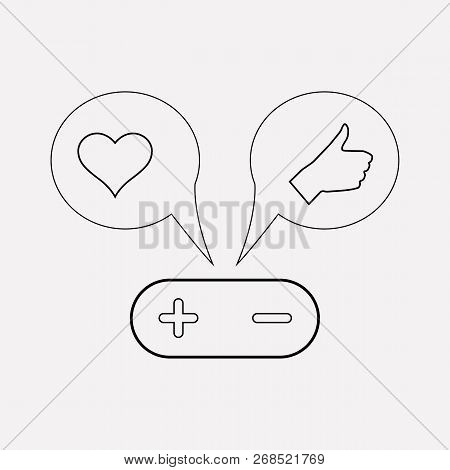Shares With Like Icon Line Element. Vector Illustration Of Shares With Like Icon Line Isolated On Cl
