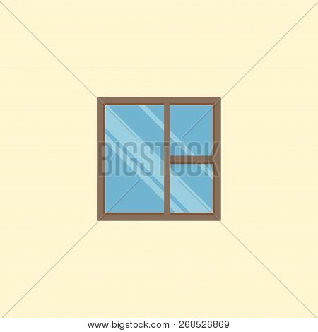 Casement Icon Flat Element.  Illustration Of Casement Icon Flat Isolated On Clean Background For You