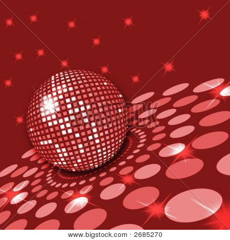 Red Discoball