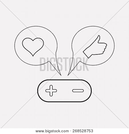 Shares With Like Icon Line Element.  Illustration Of Shares With Like Icon Line Isolated On Clean Ba