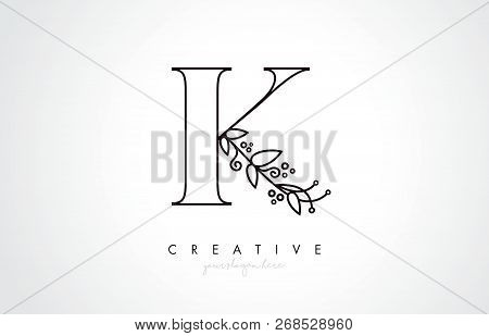 K Letter Logo Organic Vector Photo Free Trial Bigstock