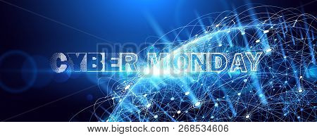 Cyber Monday Online Sale Event. Vector Technology Illustration