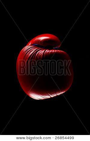 Red Boxing Gloves on dark background
