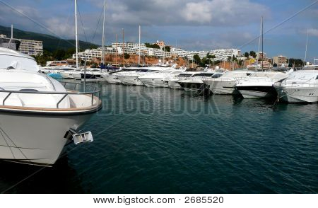 Boats In A Marina