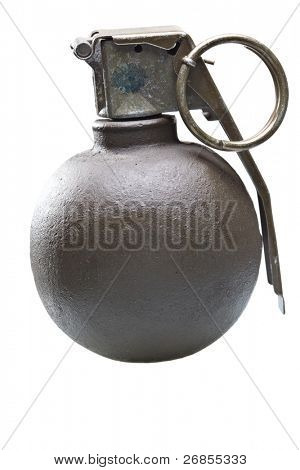 Grenade on isolated on white background