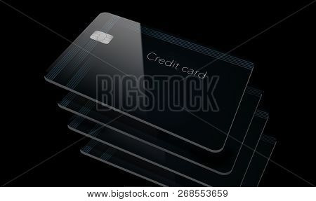 Here Is A Modern Credit Card That Is A Mock With Generic Logo.
