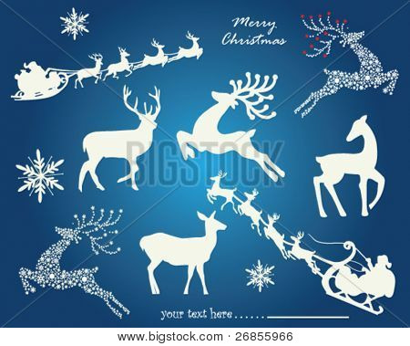Christmas elements. Vector
